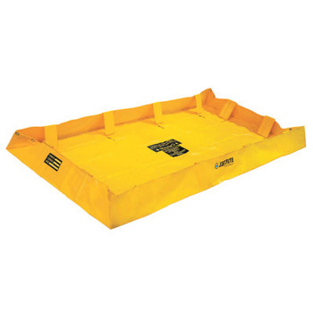 Justrite QuickBerm Lite Spill Containment Berms, Yellow, 159 gal, 8 ft x 4 ft (1 EA/COIL)