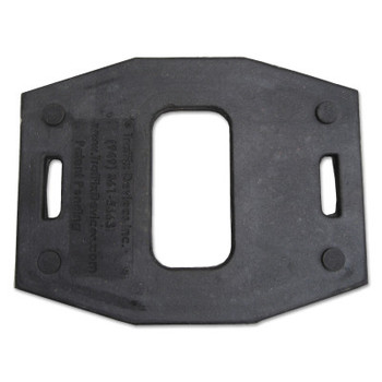 TrafFix Devices, Inc. Vertical Panel Bases, 30 lb, Recycled Rubber, Black (1 EA/COIL)