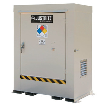 Justrite Non-Combustible Outdoor Safety Locker-Natural Draft Ventilation, (2) 55gal drums (1 EA/COIL)