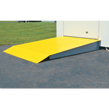 Justrite Steel Loading Ramp, 48 in X 120 in X 14 in, For 2 drum locker (1 EA/EA)