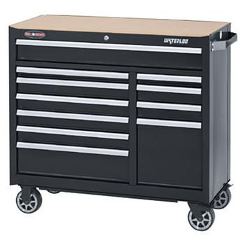 Waterloo Series Cabinets, 41 in x 18 in x 37 1/4 in, 11 Drawers, Black (1 EA/EA)