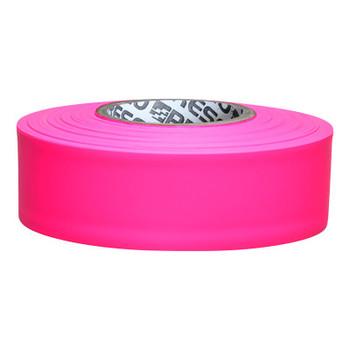 Presco Flagging Tape, 1 3/16 in x 150 ft, Pink Glo (12 RL/EA)