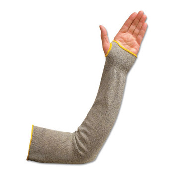 "Wells Lamont Flame/Cut-Resistant Sleeve w/Thumbhole, 24"", Elastic Both Ends, White/Yellow/Bk (1 PC/EA)"