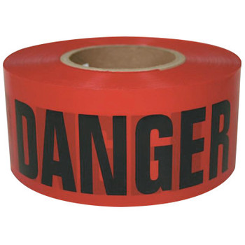 Intertape Polymer Group Barricade Tape, 3 in x 300 ft, Yellow, Danger (16 ROL/EA)