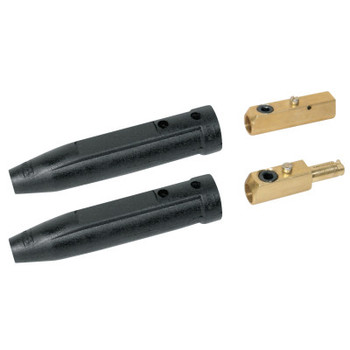Best Welds Cable Connector, 1 Male and 1 Female, Ball Point Connection, 1/0 Cap. (1 ST/EA)