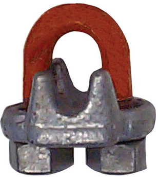 CM Columbus McKinnon Forged Wire Rope Clips, 1/2 in, Galvanized Zinc (1 EA/EA)