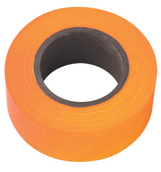 Stanley Products Flagging Tape, 1 3/16 in x 150 ft, Orange Glo (1 ROL/EA)