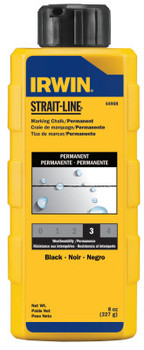 Stanley Products Permanent Staining Marking Chalks, 8 oz, Permanent Black (6 BTL/EA)