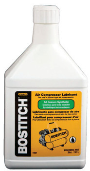 Bostitch Air Compressor Synthetic Oils, 20 oz, Bottle (6 BO/BIT)