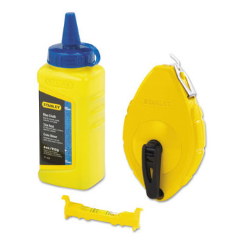 Stanley Products CHALK BOX WITH BLUE CHALK AND LINE LEVEL (1 EA/BIT)