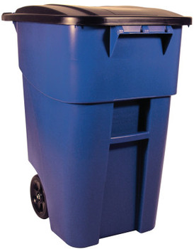 Newell Rubbermaid Brute Roll Out Containers, 50 gal, Blue (1 EA/BIT)