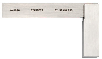 L.S. Starrett 3020 Series Toolmakers' Squares, 1 31/32 in x 3 in, Stainless Steel (1 EA/BIT)