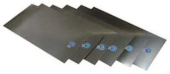 "Precision Brand Stainless Steel Shim Stock Flat Sheets, 0.0015"", Stainless 302, 0.025 x 24 x 12 (2 PKG/BX)"