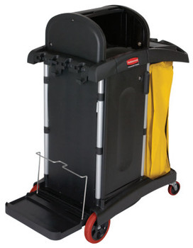 Newell Rubbermaid BLACK HIGH SECURITY JANITOR CART (1 EA/KT)