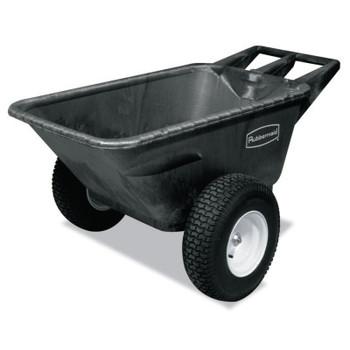 Newell Rubbermaid Big Wheel Cart, 41 in w x 57 in l x 26 in h, 700 lb Max Load, Black, 55 lb (1 EA/EA)