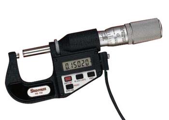 L.S. Starrett 733 Series Electronic Digital Micrometers, 1-2 in; 25-50 mm (1 EA/EA)