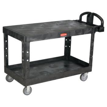Newell Rubbermaid Heavy-Duty Flat Shelf Utility Carts, 750 lb, 54 X 25 1/4 X 38 1/8h, Black (1 EA/PK)