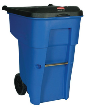 Newell Rubbermaid Brute Roll Out Containers, 65 gal, Blue (1 EA/CG)