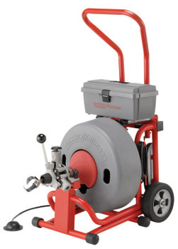 """Ridgid Tool Company Model K-6200 Drain Cleaners, 285 rpm, 3""""-6"""" Pipe, 29 1/2"""" L, w/Solid Core Cable (1 EA/BIT)"""