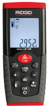 Ridgid Tool Company Micro LM-100 Laser Distance Meters, Inches/Feet/Meters to 164 ft (1 EA/EA)