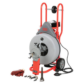 Ridgid Tool Company Model K-750 Drain Cleaners, 200 rpm, 3 in-8 in Pipe Dia., with C-100 (1 EA/EA)