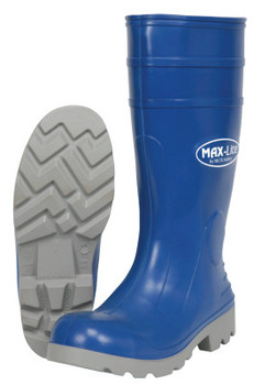 MCR Safety MAX-Lite Boots, Size 11, 16 in H, Polyurethane, Blue/Gray (1 PR/EA)