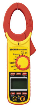 Sperry Instruments Digital Snap-Arounds, 9 Function, 24 Range, 600A AC/DC; 1,000A AC/DC (1 EA/EA)