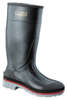 Honeywell XTP Knee Boots, Size 14, PVC, Black/Red/Gray (6 PR/EA)