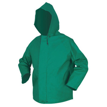 MCR Safety 388JH Dominator Hooded Rain Jackets, Nylon/PVC, Green, 16 in, Large (1 EA/ST)