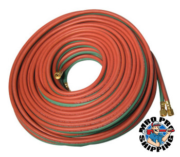 Best Welds Twin Welding Hoses, 3/16 in, 25 ft, Acetylene Only, A-B (1 EA/EA)
