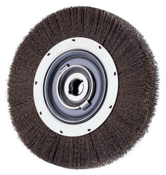 Advance Brush Medium Crimped Wire Wheel Brush, 6 D x 1 1/16 W, .012 Carbon Steel, 6,000 rpm (1 EA/EA)