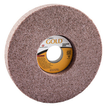 Carborundum Gold Toolroom Wheels, Type 5, 7 in Dia., 1 in Thick, 32 Grit, R Grade (1 EA/PK)
