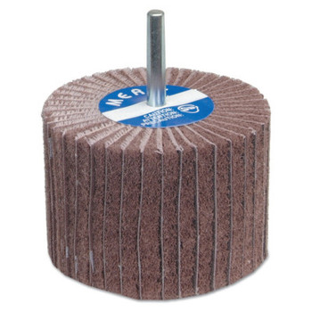 Carborundum Interleaf Flap Wheels with Mounted Steel Shanks, 3 in x 2 in, 120 Grit (10 BX/EA)