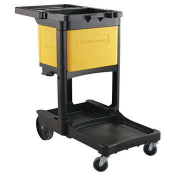 RUBBERMAID COMMERCIAL PROD. Locking Cabinet, For Rubbermaid Commercial Cleaning Carts, Yellow (1 EA/CA)