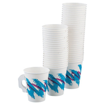 Solo Single Sided Poly Paper Hot Cups, 8 oz, Jazz Design (1 CA/EA)