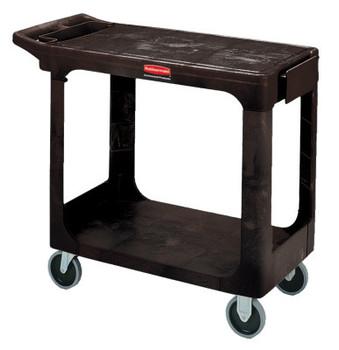 Newell Rubbermaid Flat Shelf Carts, 500 lb, 37 1/8 X 19 3/16 X 33 5/16h, Black (1 EA/PK)