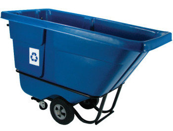 Newell Rubbermaid Recycling Tilt Trucks, 1/2 yd3, 850 lb (1 EA/PK)