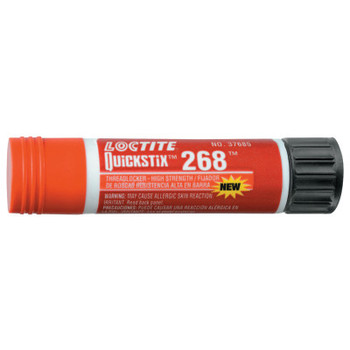 LOCTITE QuickStix 268 Threadlockers, High Strength, 9 g, 3/4 in Thread, Red (1 EA/CA)