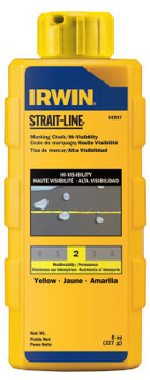 Stanley Products Hi-Visibility Marking Chalks, 8 oz, Hi Vis Yellow (1 BTL/EA)
