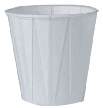 Solo Pleated Paper Water Cups, 3 1/2 oz, White, 5,000 per case (1 CA/PK)