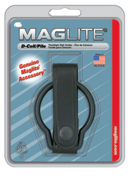 MAG-Lite Belt Holders, For Use With D-Cell Flashlights, Plain Leather, Black (12 EA/PK)