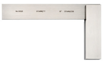 L.S. Starrett 3020 Series Toolmakers' Squares, 3 29/32 in x 6 in, Stainless Steel (1 EA/ST)