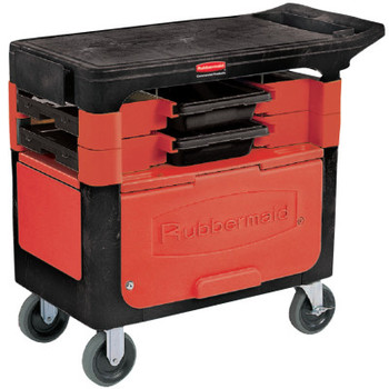 Newell Rubbermaid Trades Carts, 38 X 19 1/4 X 33 3/8h, Black, With Cabinet (1 EA/EA)