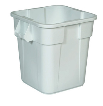 Newell Rubbermaid Brute Square Containers, 28 gal, White (6 CTN/EA)