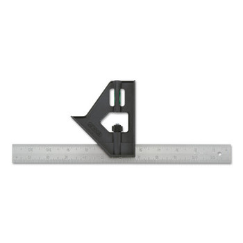 Stanley Products Combination Squares, 12 in, Inch/Metric, Plastic (1 EA/EA)