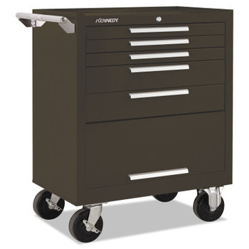 Kennedy Industrial Series Roller Cabinets, 27 x 18 x 35, 5 Drawers, Brown, w/Slide (1 EA/CS)