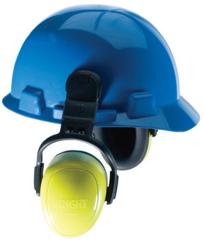 MSA left/RIGHT Earmuffs, 28 dB NRR, Yellow, Helmet (1 EA/CA)