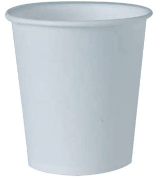 Solo Flat Bottom Paper Water Cups, 4 oz, White (1 CA/PA)