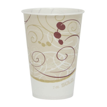 Solo Wax-Coated Paper Cold Cups, 7 oz, Jazz Design (1 CA/CS)