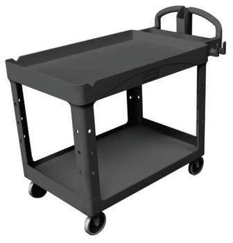 Newell Rubbermaid Heavy-Duty Lipped Shelves Utility Carts, 500 lb, 54 X 25 1/4 X 39 1/4h, Black (1 EA/CA)